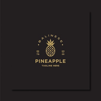 Logo d'ananas vintage