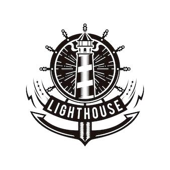 Logo d'ancre de phare
