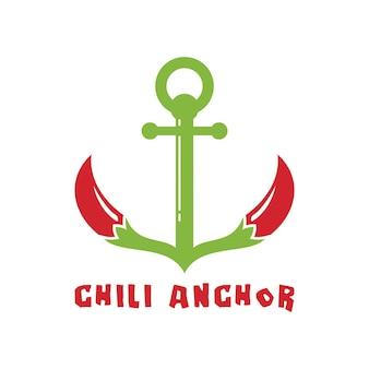 Logo d'ancre de piment