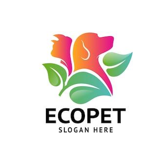 Logo d'animal de compagnie écologique