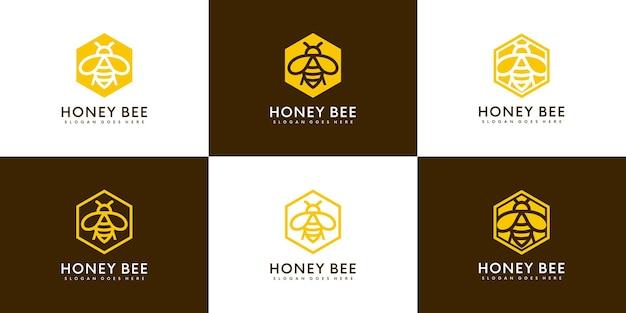 Logo d'animaux d'abeille de miel