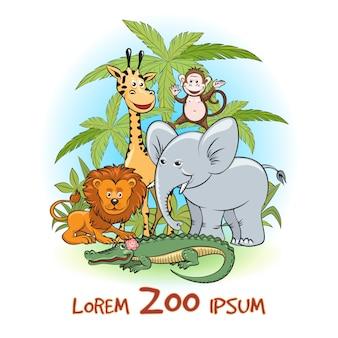 Logo animaux du zoo