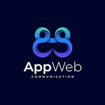 Logo app web gradient style coloré.