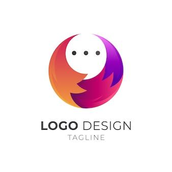 Logo de l'application mobile fox chat