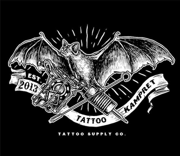 Logo d'approvisionnement en tatouage kampret
