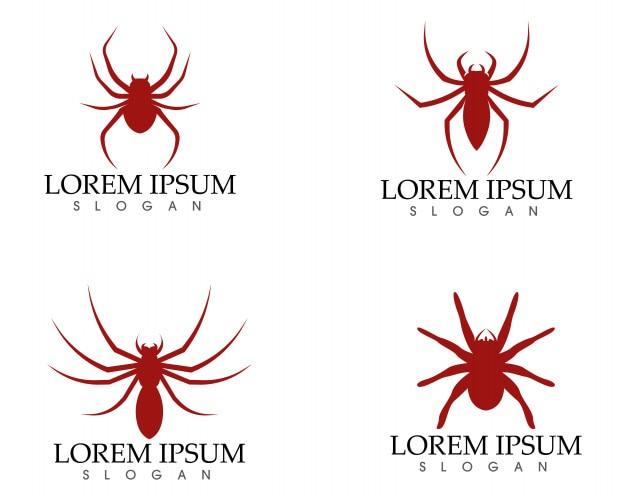 Logo d'araignée et symboles icônes des applications