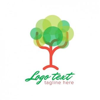 Logo avec arbre abstrait fait avec des cercles