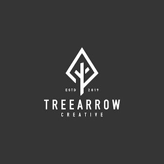 Logo arbre de flèche