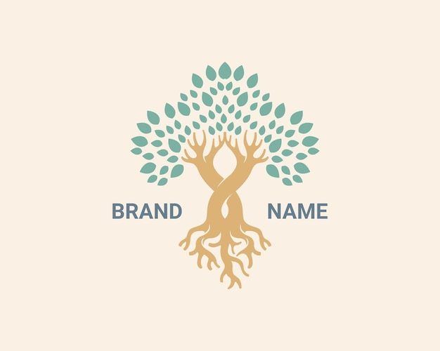 Logo de l'arbre nature de l'entreprise