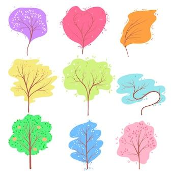 Logo avec arbre de saisons
