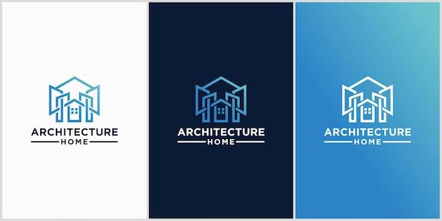 Logo de l'architecture de la maison moderne industriel