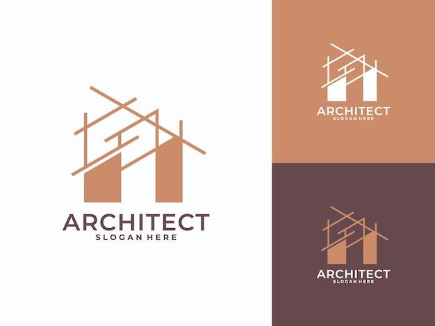 Logo de l'architecture moderne, construction, architecte, logo du bâtiment