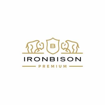 Logo des armoiries de bison