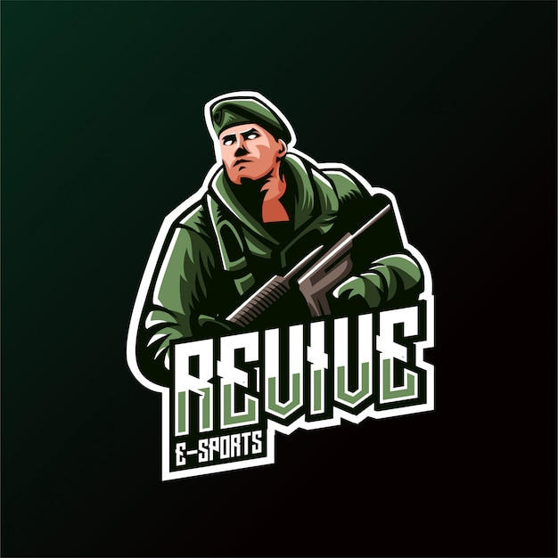 Logo army shooter jeux esports