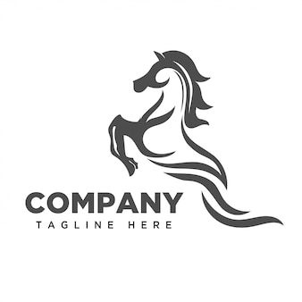 Logo d'art cheval saut saut abstrait