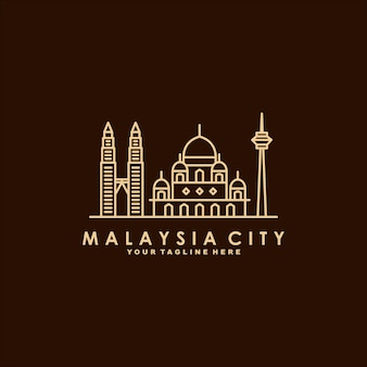 Logo d'art ligne malaisie ville