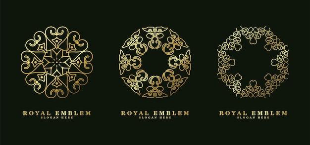 Logo d'art de ligne de style d'ornement de luxe