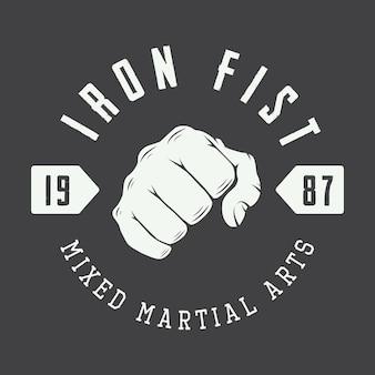 Logo d'arts martiaux, insigne