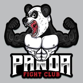 Logo d'arts martiaux mixtes fort panda esport