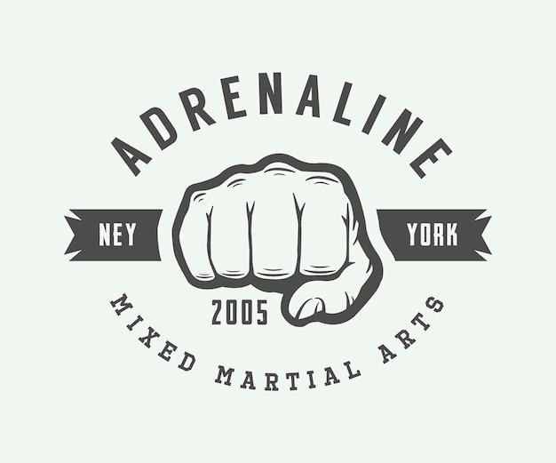 Logo d'arts martiaux mixtes vintage
