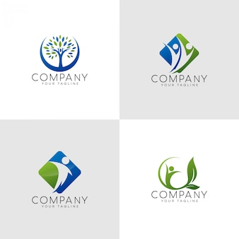 Logo d'assurance happy family