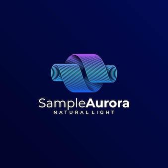 Logo aurora dégradé style coloré