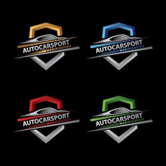 Logo auto bouclier sport auto