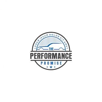 Logo automobile vintage, garage d'atelier