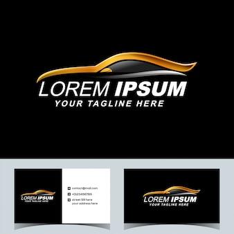 Logo automobile de voiture de sport de luxe