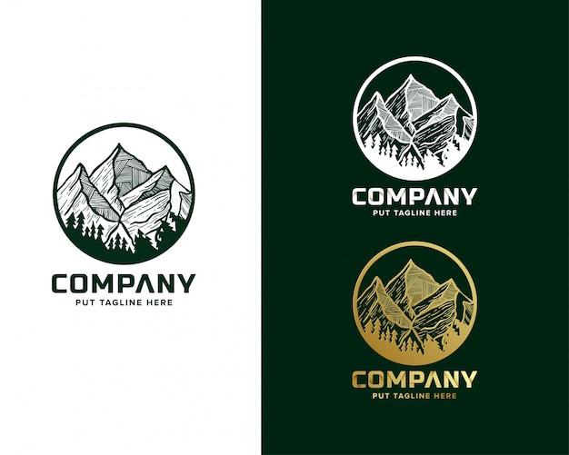 Logo d'aventure en montagne pour entreprise