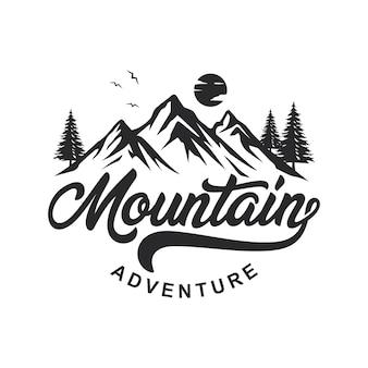 Logo d'aventure en montagne