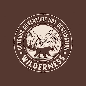 Logo d'aventure en pleine nature