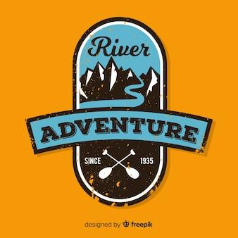 Logo d'aventure vintage