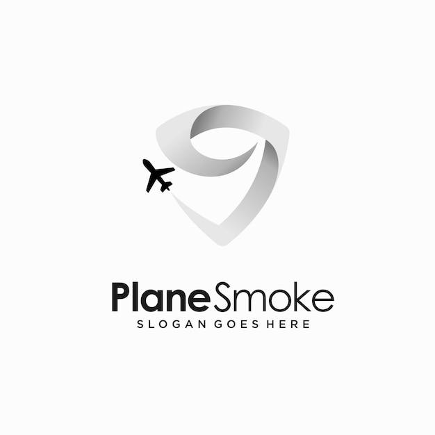 Logo de l'aviation avec concept de fumée