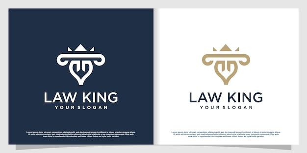 Logo d'avocat avec style d'élément créatif vecteur premium partie 4