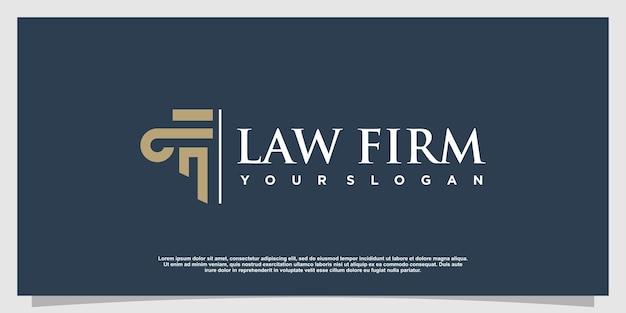 Logo d'avocat avec style d'élément créatif vecteur premium partie 6