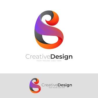 Logo b avec un design coloré
