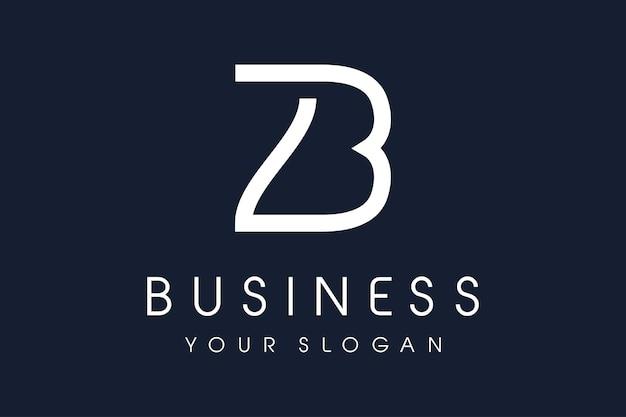 Logo b. lettre b conception illustration vectorielle.