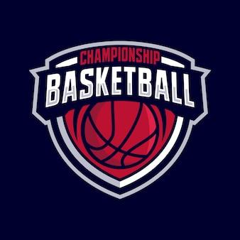 Logo de badge de basket-ball