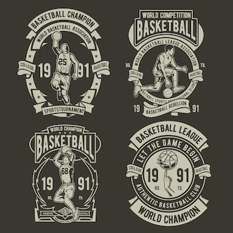 Logo de badge de basket-ball