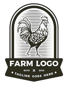 Logo badge coq ferme