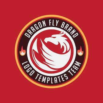 Logo badge emblème dragon