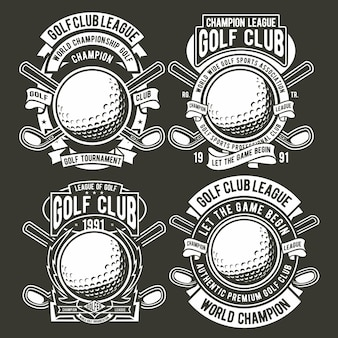Logo de badge de golf