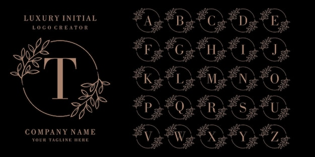 Logo de badge initial de luxe