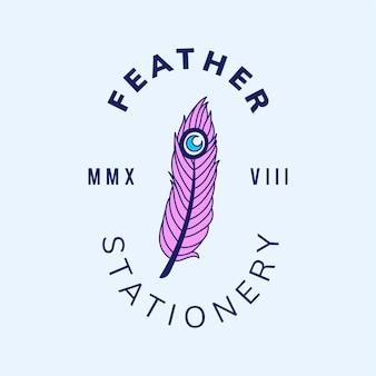 Logo de badge vintage avec un vecteur de conception de texte