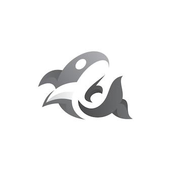 Logo de baleine abstraite