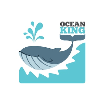 Logo de baleine de vecteur