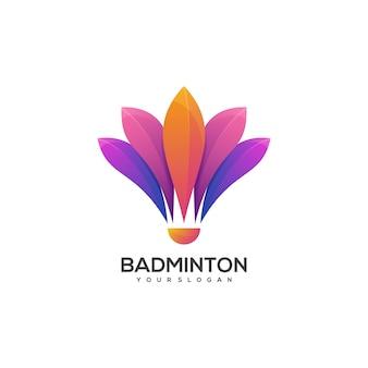 Logo balle de badminton dégradé coloré