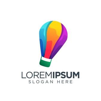 Logo de ballon à air coloré
