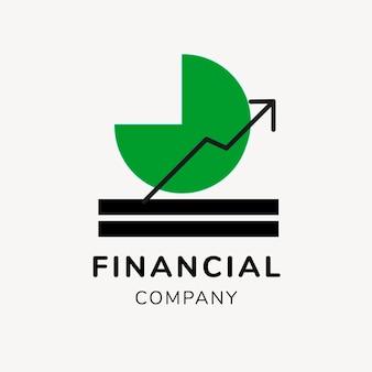 Logo bancaire, modèle d'entreprise pour le vecteur de conception de marque